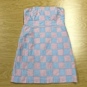 NWOT Vineyard Vines Kentucky Derby Strapless Dress